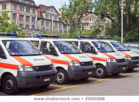полиции · автомобилей · синий · вектора · город - Сток-фото © derocz