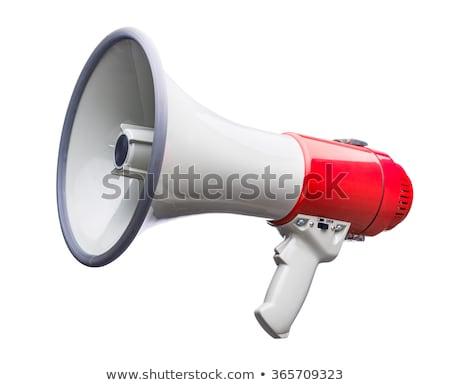 Mégaphone isolé blanche micro rouge sonores Photo stock © ordogz