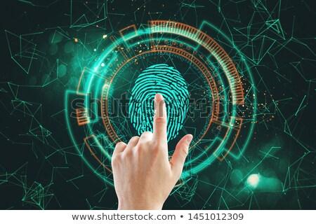 hand touching 3d print keypad 3d rendering stock photo © tashatuvango
