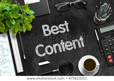 Best Content Concept on Black Chalkboard. 3D Rendering. Stock photo © tashatuvango