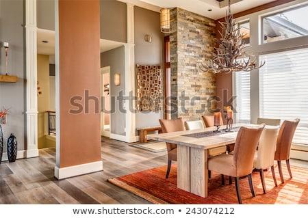 Dining room in beautiful home Stock photo © konradbak