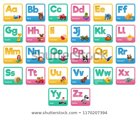 alphabet chart with letters and words stock photo © bluering
