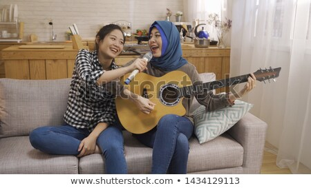 Play and listen. Stock photo © Fisher