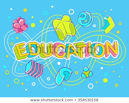 Welcome back to school poster. Back to School text with formulas Stock photo © pashabo