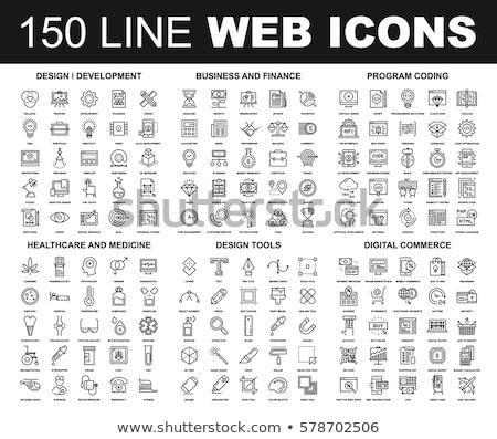 Seo ontwikkeling eenvoudig iconen web Stockfoto © ayaxmr