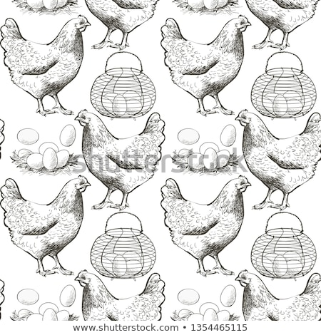 Eggs in egg tray on seamless background. stock photo © shutter5