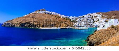 традиционный · панорамный · мнение · острове · белый - Сток-фото © Freesurf