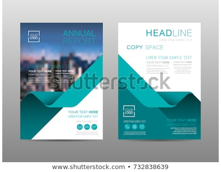 company magazine cover page brochure design vector