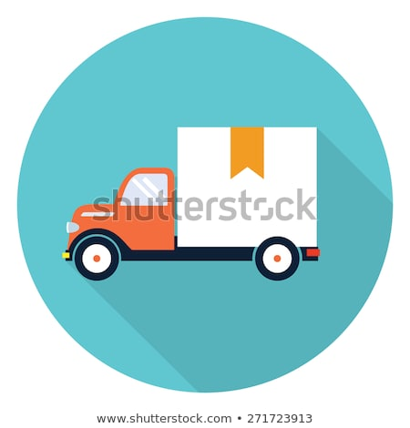 Shipment Van Flat Vector Icon Stock photo © ahasoft
