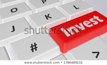 красный клавиатура 3D тонкий алюминий Сток-фото © tashatuvango