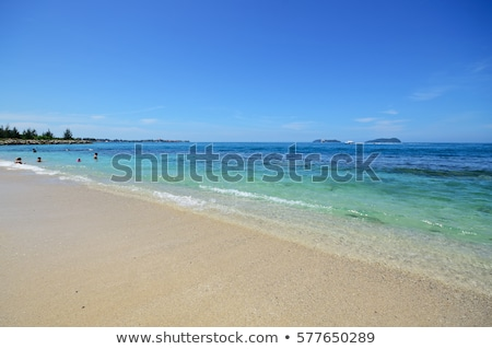 Belle plage ciel nuages nature mer Photo stock © chrisukphoto