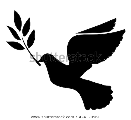 Stock photo: Dove silhouette logo