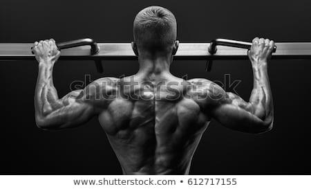 Gömleksiz adam yukarı crossfit spor salonu Stok fotoğraf © wavebreak_media
