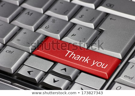 Thank You - Concept on Red Keyboard Button. Stock photo © tashatuvango