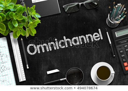 omnichannel handwritten on black chalkboard 3d rendering stock photo © tashatuvango