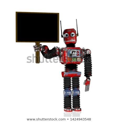ストックフォト: 人工知能 · 黒 · 黒板 · 3D · レンダリング