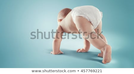baby in diapers crawling Stock photo © Traimak