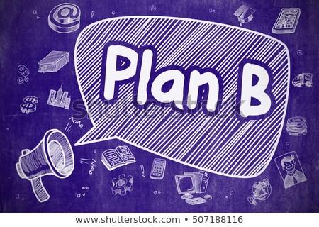 B-terv firka illusztráció kék tábla szövegbuborék Stock fotó © tashatuvango