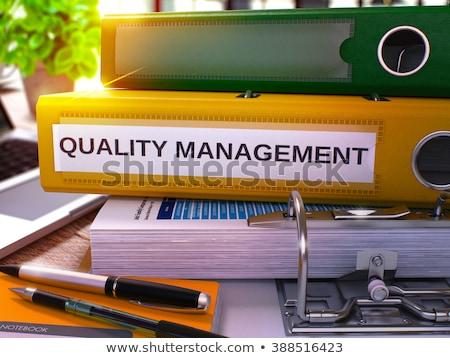 quality management on file folder toned image stock photo © tashatuvango