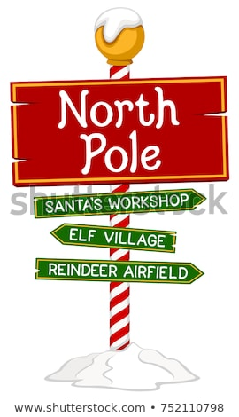 North Pole Sign Illustration Stock photo © enterlinedesign
