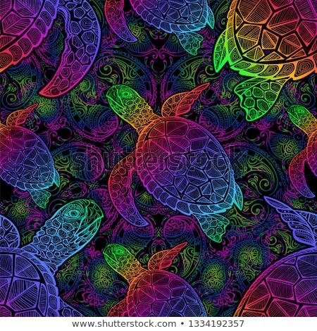 черепахи бесшовный воды морем фон океана Сток-фото © JeksonGraphics