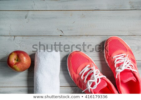 Close up of sneakers on wooden background Stock photo © vlad_star