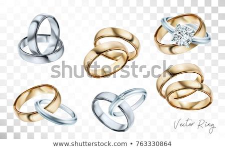 wedding ring with diamond vector illustration stock photo © robuart