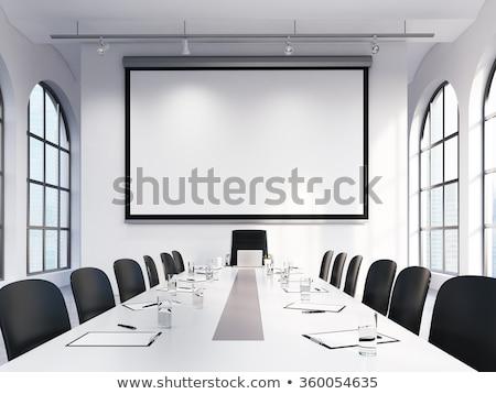 Building Services on Laptop in Meeting Room. 3d Stock photo © tashatuvango