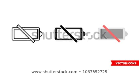 discharged and charged battery icon Stock photo © romvo