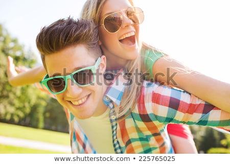 молодые человек парка весело среде отдыха Сток-фото © IS2