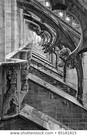Milánó · részlet · feketefehér · kép - stock fotó © umbertoleporini