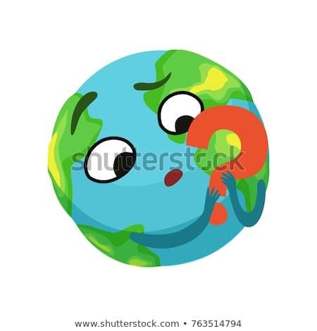 земле вопросительный знак пространстве иллюстрация различный небесный Сток-фото © lenm
