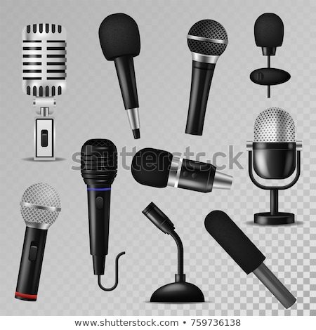 Siyah mikrofon beyaz Stok fotoğraf © devon