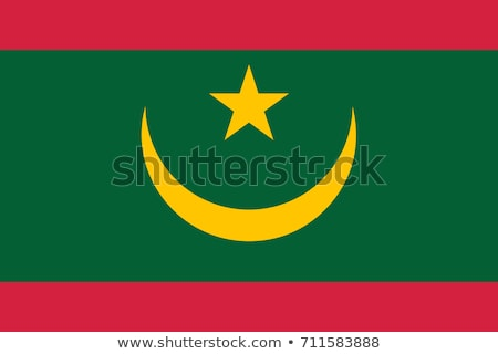 モーリタニア フラグ 白 星 ファブリック アフリカ ストックフォト © butenkow