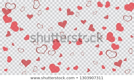 Happy Valentines Day Design with Red Heart on Shiny Light Background. Vector Wedding and Love Theme  Stock photo © articular