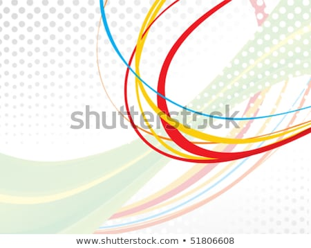 resumen · arco · iris · olas · líneas · espacio · texto - foto stock © pathakdesigner