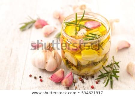Ail pétrolières romarin alimentaire cuisson Cook Photo stock © M-studio