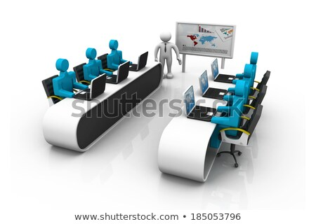 Communities and Networks on Laptop in Meeting Room. 3d Stock photo © tashatuvango