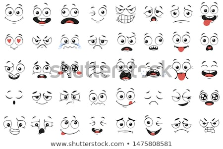 Surprisingly Cartoon Funny Face With Expression Stock photo © hittoon