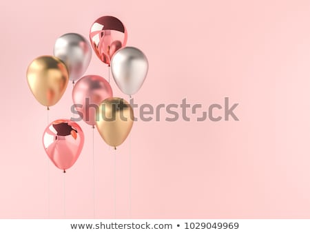 3d Realistic Colorful Balloon. Birthday balloon for party and celebrations.  stock photo © Said