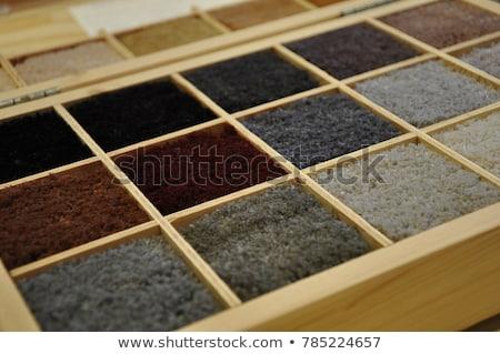 designer showing carpet samples stock photo © is2