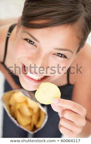 Stock foto: Beautiful Girls And Chips