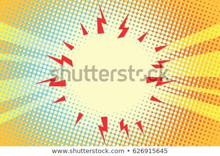 Arte pop explosión rojo amarillo centro retro Foto stock © studiostoks