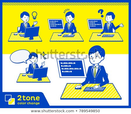 2tone type suit businessman_set 4 Stock photo © toyotoyo