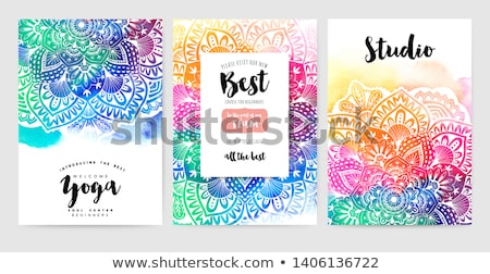 kleurrijk · mandala · decoratie · ontwerp · kunst · patroon - stockfoto © sarts