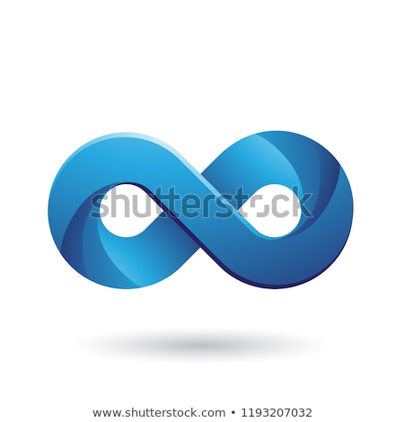 Infinity Symbol with Blue Color Tints Vector Illustration Stock photo © cidepix