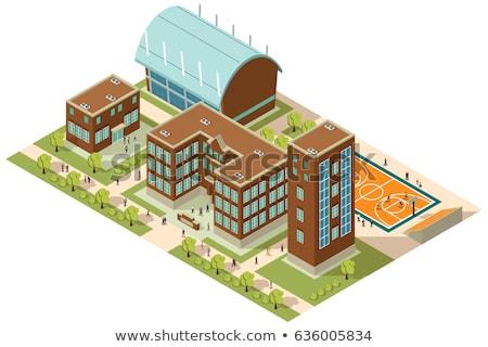 Vector isometric university building Stock photo © tele52