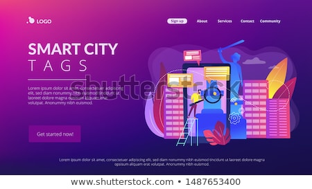 Smart city and digital city guide app interface template. Stock photo © RAStudio