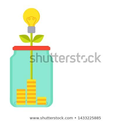 Fonds lumineuses affiche jar argent boîte Photo stock © robuart