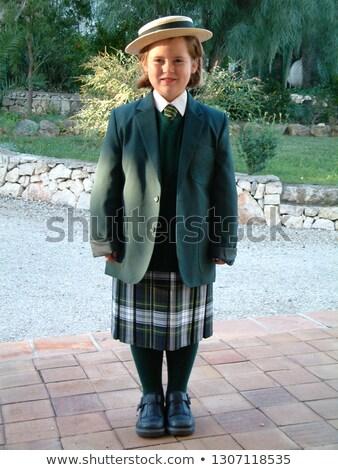 Uczennica zielone zestaw piękna różny pielęgnacja skóry Zdjęcia stock © toyotoyo